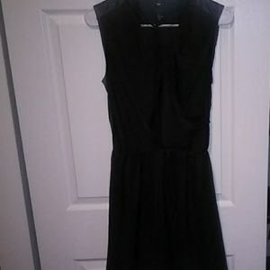Black Dress with Leather back